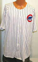 vtg CHICAGO CUBS PINSTRIPE Starter Jersey 2XL 90s mlb sewn throwback distress