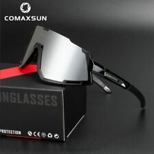 COMAXSUN Polarized Cycling Glasses Bike Goggles Driving Fishing Sunglasses 3 Len