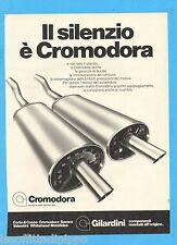 QUATTROR982-PUBBLICITA'/ADVERTISING-1982- CROMODORA by GILARDINI