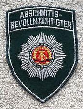 EAST GERMAN POLICE PATCH DDR Uniform Volkspolizei Abschnittsbevollmächtigter GDR