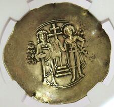 1118-1143 Ad Byzantine Empire John Ii Gold/Electrum Aspron Trachy Coin Ngc Xf
