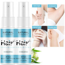 2X Powerful Permanent Hair Removal Spray Stop Hair Growth Inhibitor Remover 20ml