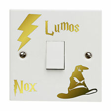 Harry Potter Light Switch Sticker Decal Lumos NOX Lightswitch Vinyl Bedroom Gold