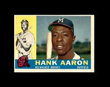 New listing 1960 TOPPS #300 HANK AARON BRAVES NM+ to NM-MT