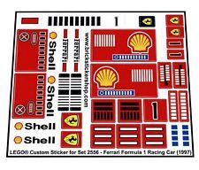 Lego® Custom Pre-Cut Sticker for Model Team 2556 - Ferrari Formula 1 Racing Car