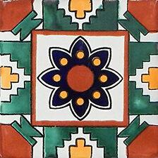 6  PCS Talavera 6X6 Handmade Ceramic Tile Mexican C291