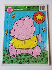 Vintage Golden Frame Tray Puzzle Little Beasties Pig Kate Gleeson 1994 Piglet