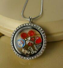 RN NURSE Nursing floating charms silver locket w/steel necklace gifts for women