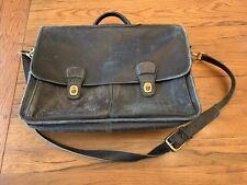 Vintage COACH Glove Black Leather PRESCOTT Messenger Briefbag Case Courier-0532