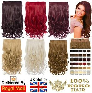KOKO Hair 180g One Piece/Weft Curly Clip-in Hair Extensions Various Colours