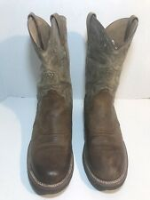 Ariat Mens Size 12 EE Brown Leather Round Toe Pull On Western Boots #B040