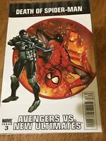 DEATH OF SPIDER-MAN COMIC BOOK ISSUE 3 AVENGERS VS NEW ULTIMATES MARVEL