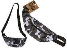 BLACK AND WHITE CAMOUFLAGE BUM BELT BAG FANNY PACK WAIST POUCH