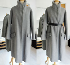 Zara Ash Grey Wool Blend Coat Jacket Size L