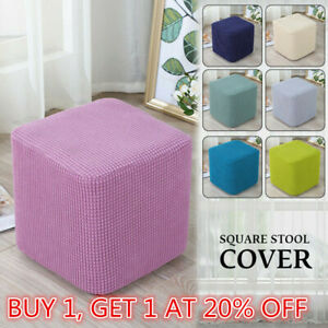 Footstool Cover Stretch Stool Ottoman Sofa Storage Slipcover Protector Rectangle