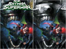 BATMAN SUPERMAN 1 CLAYTON CRAIN VARIANT SET EXCLUSIVE LTD 600 W/ #D COA NM+