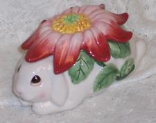 Fitz & Floyd Bunny Blooms Rabbit Lidded Box 2002 In Original Box