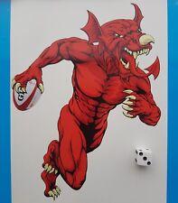 Galés Rugby Corriendo Pegatina de Dragón Gales Rugby Calcomanía de contorno de corte
