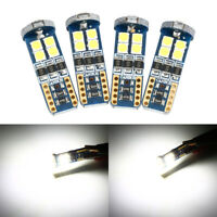 4 x Canbus T10 3030 12SMD LED 4000K Warm White Car Side Light 720LM Bulbs
