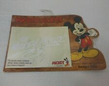 Disney World Office Home Mickey Mouse Sticky Notepad Paper Pages & Fridge Magnet
