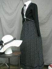 Victorian Dress Edwardian Costume Civil War Reenactment Outfit w Hat