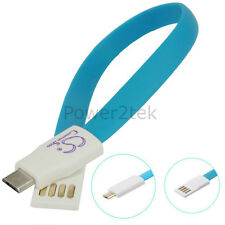 Short Flat Magnet micro USB Data Sync Charger Cable for Samsung Galaxy S3 S4 S5