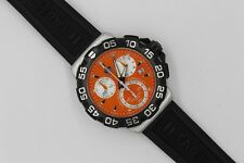Tag Heuer Formula One 1 Watch Mens CAH1113.BT0714 ORANGE SS MINT CRYSTAL RUBBER