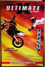 """ULTIMATE X"" ESPN movie poster 2003 MOTO CROSS FLYING DIRT BIKE MOTOR CYCLES"