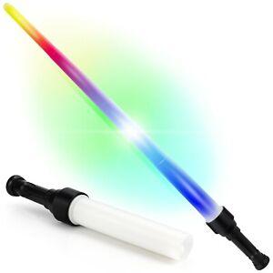 LED Lightsaber Laser Saber Sci-Fi Toy Light Up Red Blue Green 8 Functions
