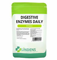 Lindens Digestive Enzymes Daily 90 Tablets w/ Betaine hcl Amylase Papain Lipase