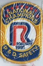 Roadway Express 1991 National champions P&D safety drivers patch 4X2-3/4 inch