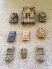 Assorted WW2 German Tanks And Jeeps (Unimax, Corgi, Wizards)