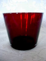 Collectible Ruby Red Blown Glass Votive / Tealight - MORE AVAILABLE