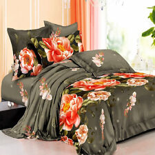 Brand New King Bed Quilt/Doona Cover 5 Pieces Set. Flower AQ175