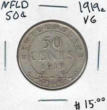 Canada Newfoundland NFLD 1919c 50 Cents VG Lot#6