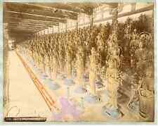 Japon, Kioto, idols in Sanjusangendo vintage albumen print, Japan, 日本 Tirage a