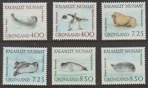 Greenland 1991 #233-38 Walrus and Seals (Set of 6) - MNH