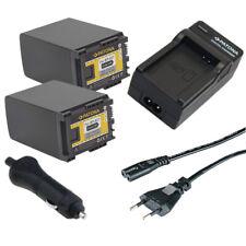 2x Batteria Patona + caricabatteria casa/auto per Canon Legria HF G25,HF M30