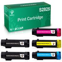 5PK High Yield Laser Toner S2825 For Dell Color Laser H625cdw H825cdw S2825cdn
