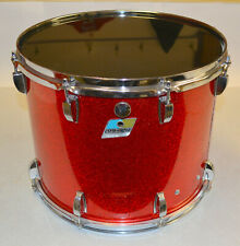 """USED LUDWIG 12""""x15"""" TENOR DRUM, MARCHING STYLE, RED SPARKLE FINISH"""