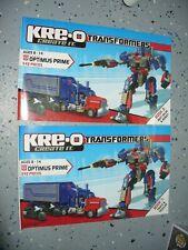 Hasbro Kre-o Instruction Book - Transformers - Optimus Prime # 30689 (2 books)