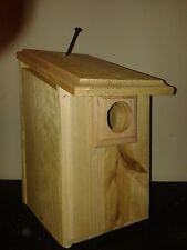 1 Cedar Blue Bird House Easy to Open and Clean