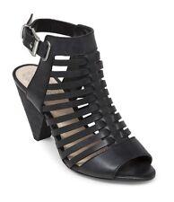 Women's Vince Camuto Elrita Huarache Leather Sandals, Size 9.5 Black