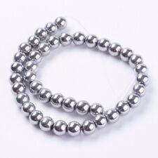 Premium Hematite Magnetic Silver Round Beads (H3)