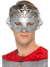 Argento Barocco Maschera Occhi mascherato Ball Masquerade Costume Accessorio Nuovo