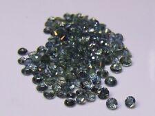 2.6 mm blue/green sapphire gemstones x 2