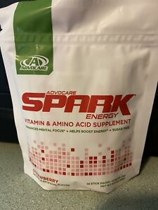 Advocare Spark 14 Stick Pouches - INDIVIDUALLY SEALED - Strawberry