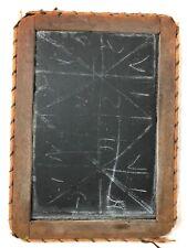 1800s Antique American Schoolhouse WRITING SLATE chalkboard 11″ × 8″ Unique Trim