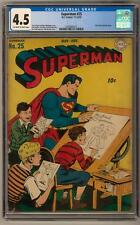 Superman #25 CGC 4.5 (OW-W) Clark Kent Joins The Army Jack Burnley Cover