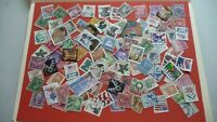 1963  - lot 100 timbres seconds USA